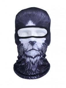 Балаклава 3D принт Кот Черный