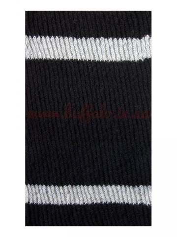 Бафф вязаный черно-серый